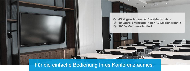 Konferenzraum mit Medientechnik