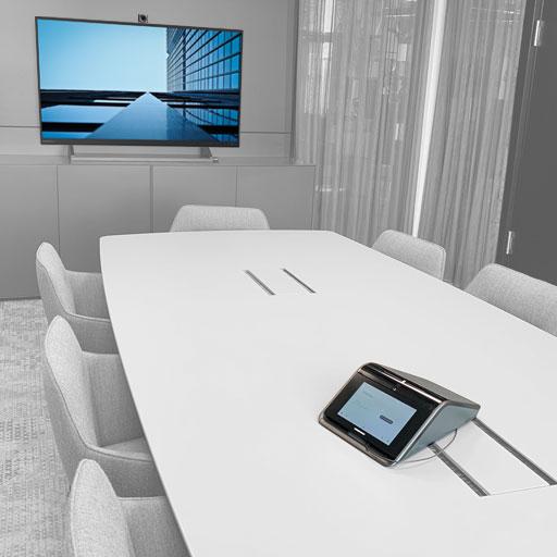 Videokonferenz mit Speakerphone